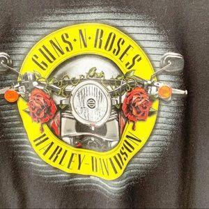 Bravado Guns And Roses Harley Davidson Tee